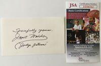 Janet Waldo Signed Autographed 3x5 Card JSA Certified Judy Jetson Jetsons