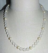 Vintage HOBE Frosted Malique and Pearls of Majorca Made in Spain Necklace TAGS