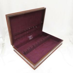 Vintage Tarnish Resistant Wood Silverware Flatware Wooden Storage Chest Box 47