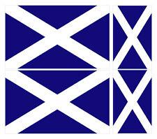 4 X SCOTTISH FLAG Vinyle Voiture Van Ipad Laptop Sticker Scotland