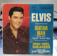 ELVIS PRESLEY SP GUITAR MAN RCA FRANCE BLUE LABEL 1968