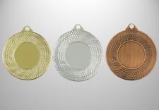 100 Medaillen Ø 50 mm Farben nach Wahl mit Emblem, Halsband & Beschriftung
