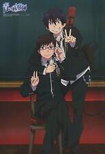 poster promo Ao no blue Exorcist / Tiger & Bunny anime Okumura Rin Yukio Keith