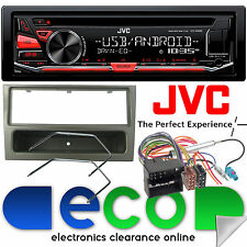 Vauxhall Meriva A 05-09 JVC AUTO STEREO CD MP3 USB y ISO Facia Kit Gun Metal