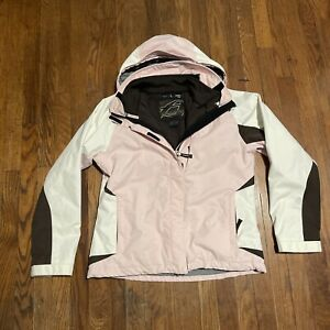Women's Orage Vibe Ski Jacket 2-in-1 Size Large Pink, White And Brown