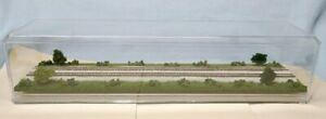 "Z SCALE  16""  DOUBLE-TRACK DISPLAY CASE - ""SUMMER SCENE""- FOR ANY Z TRAINS-J3"