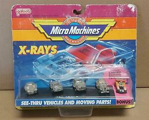 MICRO MACHINES X-RAYS 5 CAR SET COLLECTION #2 GALOOB NEW 1991