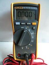 Super Clean Used Fluke 115 True RMS w/ Fluke Test Leads Multimeter Works