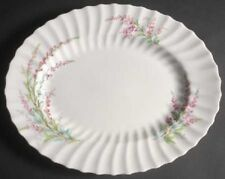 """ROYAL DOULTON CHINA BELL HEATHER SCALLOPED OVAL PLATTER 14"""""""