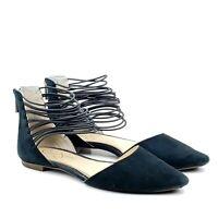 Jessica Simpson Zelio Womens Black Suede D'Orsay Pointed Toe flats Sz 8 EUR 38