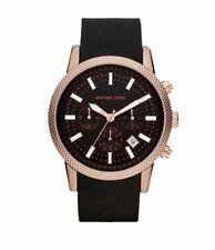 Michael Kors MK8244 Scout Black Dial Silicone Strap Men's Chronograph Watch