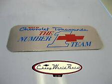 "GM CHEVY ""TONAWANDA #1 TEAM"" BIG BLOCK ENGINE VALVE COVER DECAL 396 427 454"