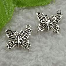 free ship 150 pcs tibet silver butterfly charms 20x20mm #3410