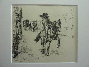 "MAX LIEBERMANN - Original Lithographie 1915 ""Der Marschall"""