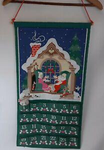 Vintage 1987 AVON Christmas Countdown Advent Calendar Mouse Holiday Santa