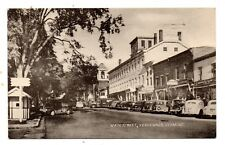 VERGENNES, VT ~ MAIN STREET, CARS, COLLOTYPE PUB ~ used 1954