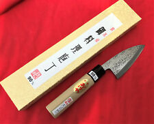 Japanese Super Blue Steel Deba Knife 90mm by Tomita