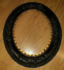Antique Victorian Oval Frame Painted Gesso & Gold Gilt 19th Century