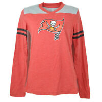 NFL Team Apparel Tampa Bay Buccaneers V-Neck Heather Red Youth Shirt Tee Girls
