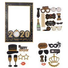 New Years Paper Photo Booth Props Picture Frame Set 2020 Selfie Props Party UKHC
