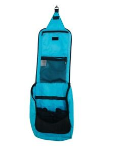 "LL Bean Turquoise Large Hanging Toiletry Bag Organizer 13x9x4"""