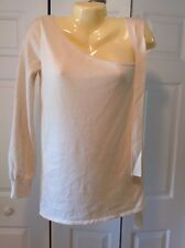 PHILOSOPHY DI ALBERTA FERRETTI WOOL OFF THE SHOULDER Beige Color Size 6