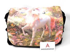 Messenger Bag Unicorn Blossom Borsa tracolla Fantasy Nemesis Now Unicorno Fiori