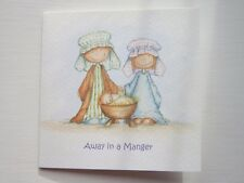 PACK OF 10 CHARITY CHRISTMAS CARDS WITH ENVELOPES. Away in a Manger
