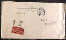1938 St Polten Austria Mixed Registered Franking Cover To Vienna