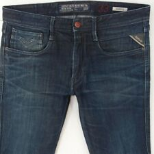 Mens Replay M914 ANBASS Stretch Tapered Blue Jeans W33 L32
