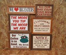 Bar humorous signs