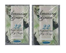 Amazing Grace 22 Inspirational Pop Songs 2 Audio Music Cassette Tape Set New