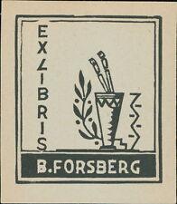 'B. Forsberg' 1932   Bookplate      (JC.70)