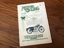 Vintage MOTOR CYCLING Magazine Matchless BSA Vincent Panther Triumph Norton ads