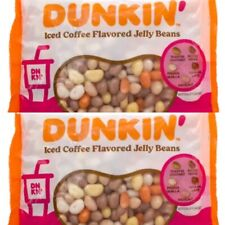 2 Dunkin Donuts Jelly Beans Iced Coffee Easter Birthday Bags 13 oz Ex 12/2022