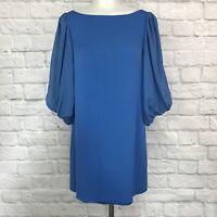 Alice + Olivia Size Small Shift Dress Blue Silk
