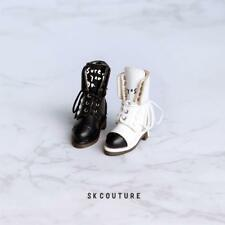 BLACK SK Couture Boots for Blythe Pullip Licca Azone Momoko L4xH4.2x1.6 HANDMADE