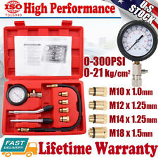 Gas Petrol Engine Cylinder Compression Test Tester Gauge Kit for Car Motorcycle
