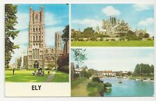Postcard, PLC14266, Ely Multiview incl Cathedral & Cutter Inn, Posted 1968