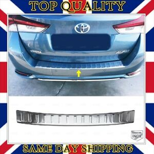 Chrome Rear Bumper Scratch Protector S.STEEL Toyota Auris Touring Sports 2015-UP