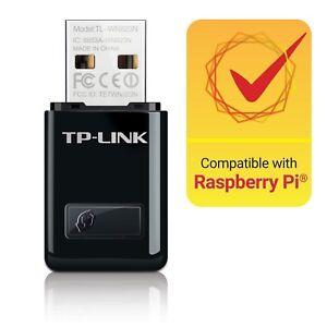 TPLink Adattatore USB Scheda di Rete, Wireless 300Mbps, 2.4GHz 2 Antenne interne