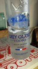 GREY GOOSE VODKA BOTTLE 375 ML EMPTY FROSTED BOTTLE W/ UNIQUE GREY GOOSE LABEL