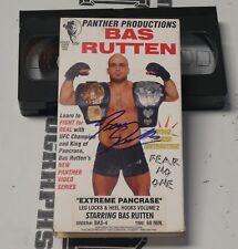 Bas Rutten Signed Extreme Pancrase MMA VHS Tape BAS Beckett COA UFC Autograph 2