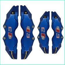 Blue AUDI A3 S Line S3 Cubierta De Zapata De Freno Cubre pinzas de disco L + M para 18 pulgadas
