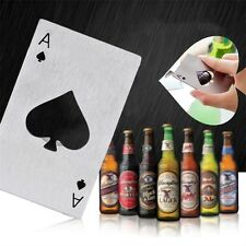 Playing Card Ace of Spades Poker Bar Tool Bottle Soda Beer Cap Opener Gift BE