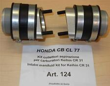 Cappellini Moto #124 Honda CB CL 77 intake manifold kit Keihin CR31 carburetors