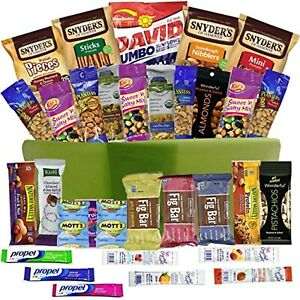 Healthy Snacks Gift Basket Care Package - 32 Health Food Snacking Choices - Quic