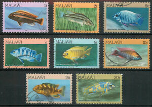 Malawi 1984 Fish part set of 8 used *COMBINED SHIPPING*