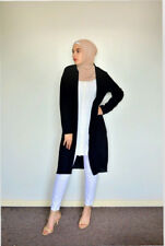 Black Long Sleeve Chiffon Cardigan Modest Hijabi Muslim Wear Wardrobe Staple