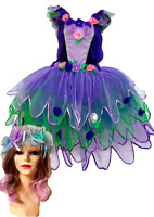 Women/'s Adult Fairy Skirt Costume Blue Lilac Mint With  Free Headpiece//Garland